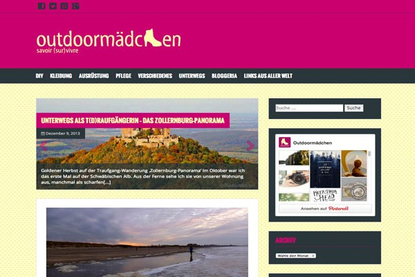 OutdoorMädchen Logo Website Design Selket Bendereit