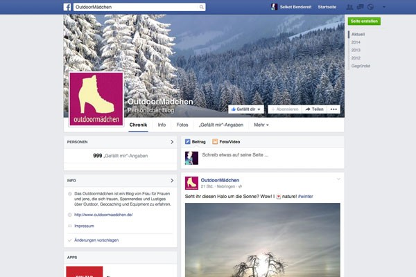 OutdoorMädchen Logo Facebook Design Selket Bendereit